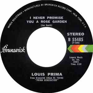 Louis Prima - I Never Promise You A Rose Garden / I Left My Heart In San Francisco mp3 flac download