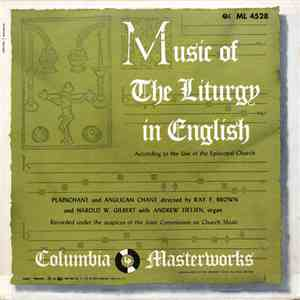 Ray F. Brown, Harold W. Gilbert, Andrew Tietjen - Music Of The Liturgy In English According To The Use Of The Episcopal Church mp3 flac download
