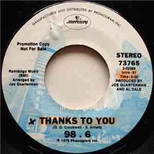 98. 6 - Thanks To You / 98. 6 mp3 flac download
